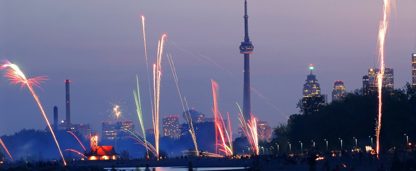 Fireworks at the CN Tower