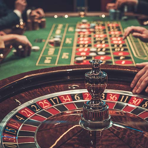 Close up of Roulette Table at Casino
