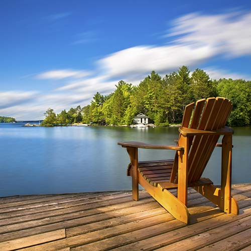 Muskoka Chair sitting on dock